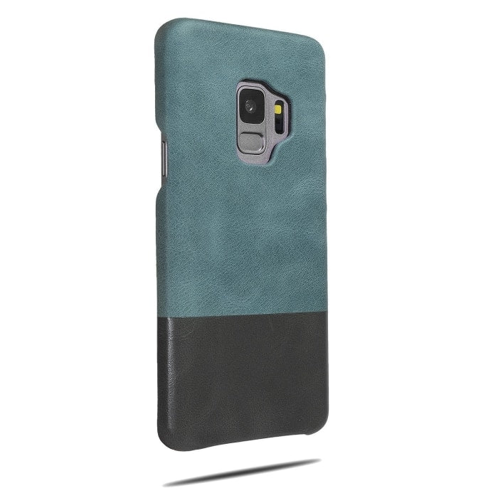 Buy personalized Ocean Blue & Pebble Gray Samsung Galaxy S9 Leather Case online-Kulör Cases
