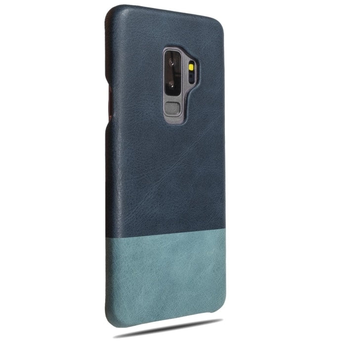 Peacock Blue & Ocean Blue Samsung Galaxy S9+ Plus Leather Case - Galaxy S9+ Plus Leather Snap-On Case
