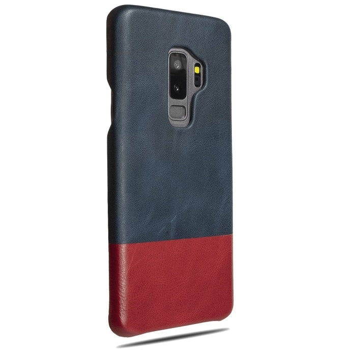 Peacock Blue & Crimson Red Samsung Galaxy S9+ Plus Leather Case - Galaxy S9+ Plus Leather Snap-On Case