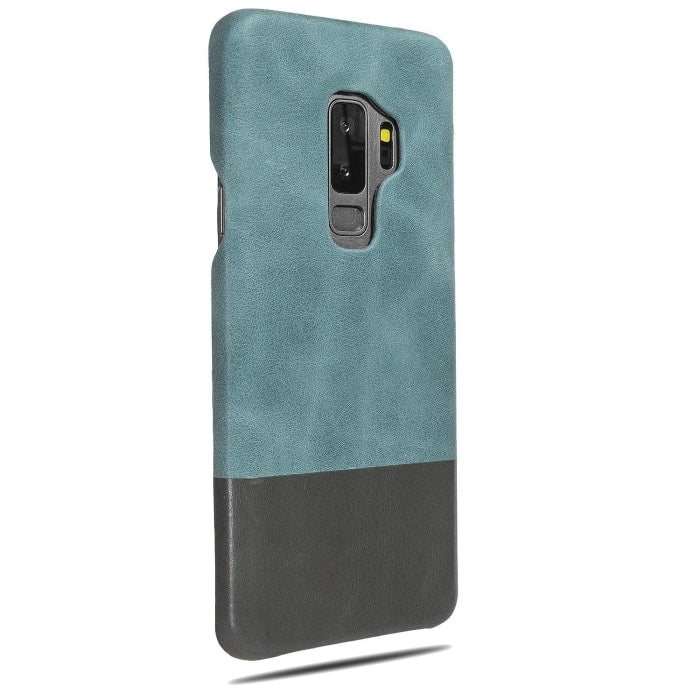 Ocean Blue & Pebble Gray Samsung Galaxy S9+ Plus Leather Case-Kulör Cases