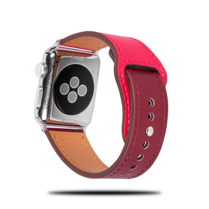 Lilla og rosa sporty lær Apple Watch Band & Stropp-Apple Watch Band-Kulör Cases