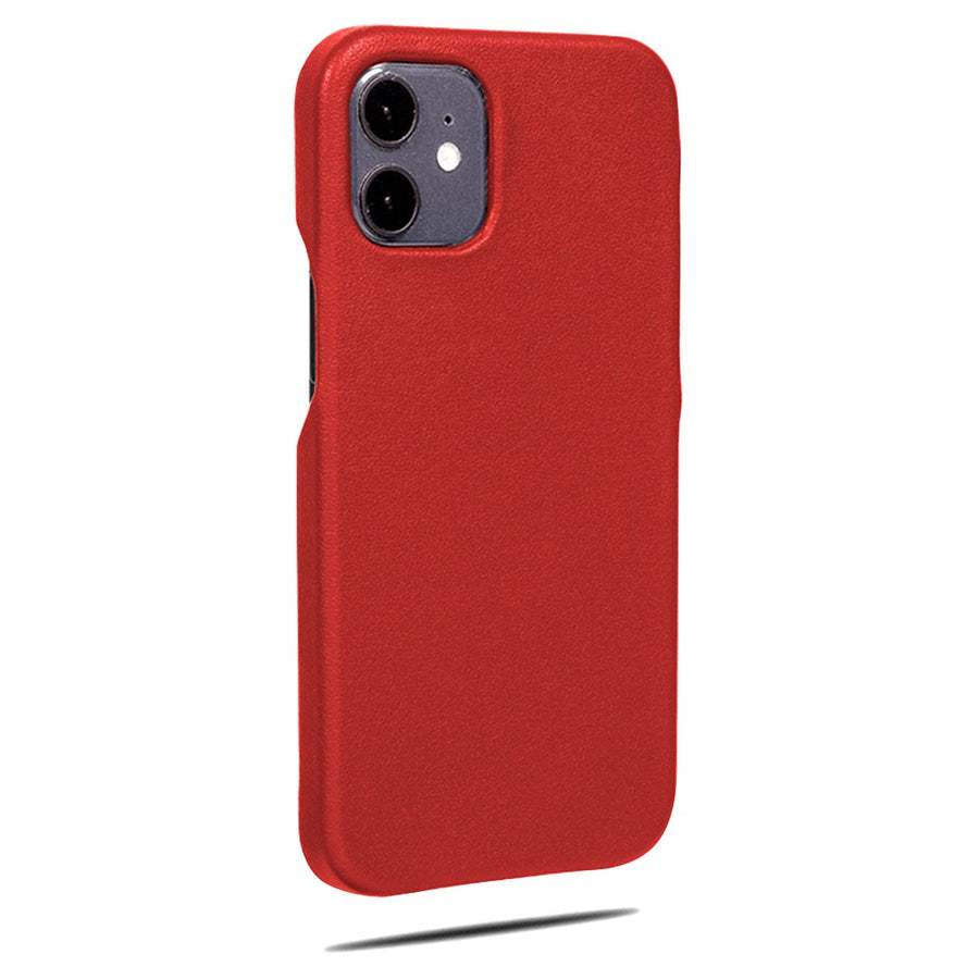 Scarlet Red iPhone 12 mini Leather Case
