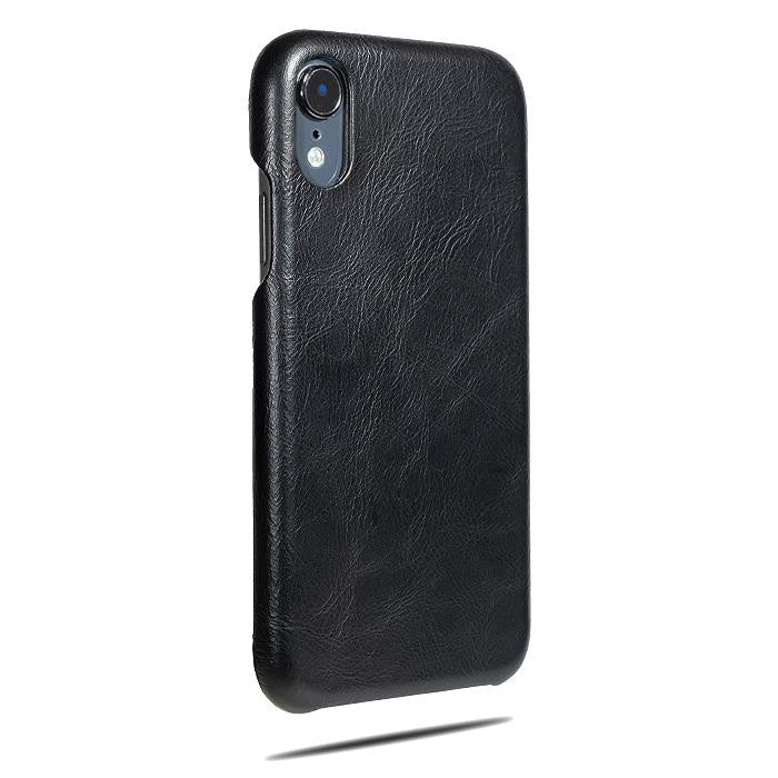 All Black iPhone XR Leather Case-Kulör Cases