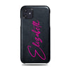 Personalized Signature iPhone 11 Black Leather Case