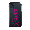 Personalized Signature iPhone 11 Pro Black Leather Case