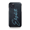 Personalized Signature iPhone 11 Pro Max Black Leather Case
