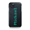 Personalized Bot Font iPhone 11 Pro Black Leather Case
