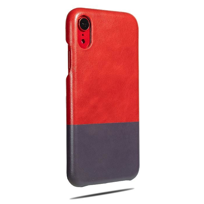 Crimson Red & Wine Purple iPhone XR Leather Case-Kulör Cases