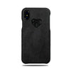 Buy personalized Dark Gray Micro Suede iPhone Xs / iPhone X Monogram Case online-Kulör Cases