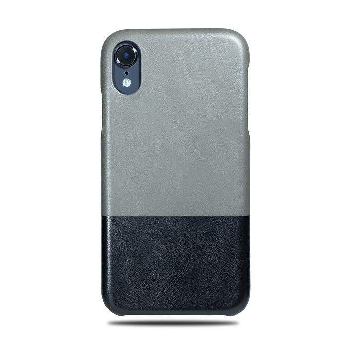 new style 61793 d01c0 Fossil Gray & Crow Black iPhone XR Leather Case