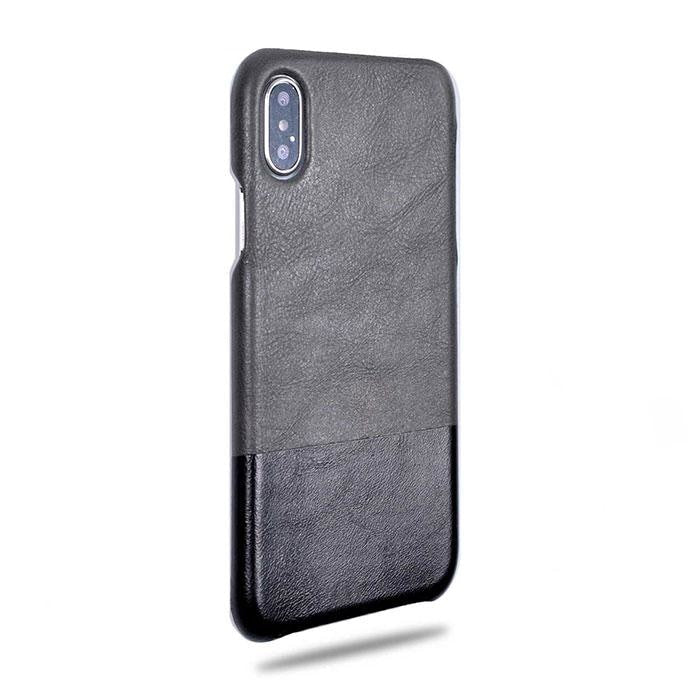 Buy personalized Fossil Gray & Crow Black iPhone Xs Max Leather Case online-Kulör Cases