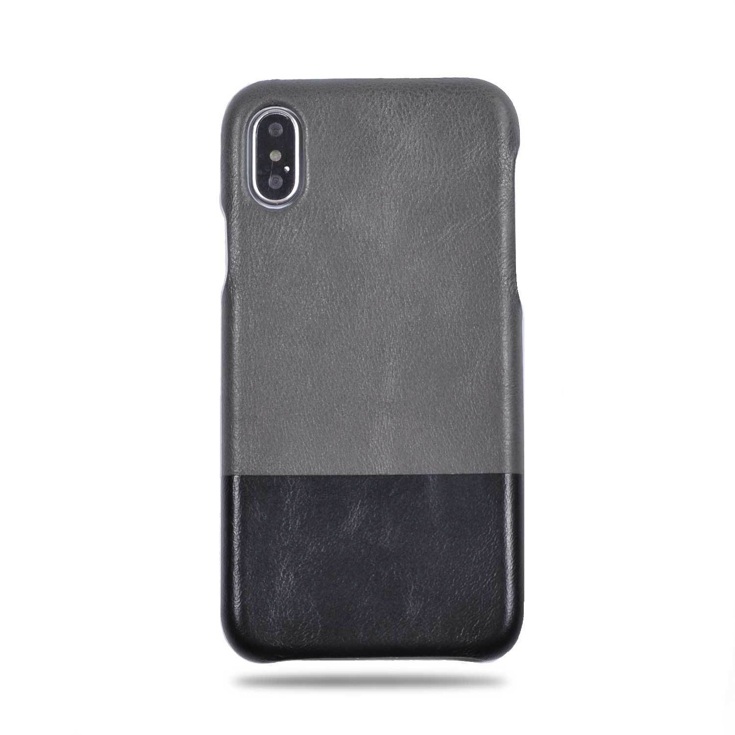 new style 5a933 8cd15 Fossil Gray & Crow Black iPhone Xs / iPhone X Leather Case