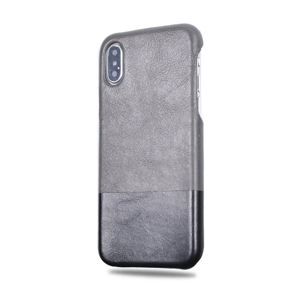 834293137 Personalized Fossil Gray & Crow Black iPhone Xs / iPhone X Leather Case -  Kulör Cases