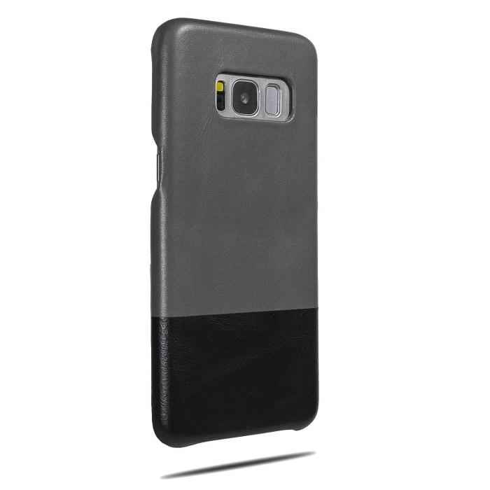 Fossil Gray & Crow Black Samsung Galaxy S8 Leather Case-Kulör Cases