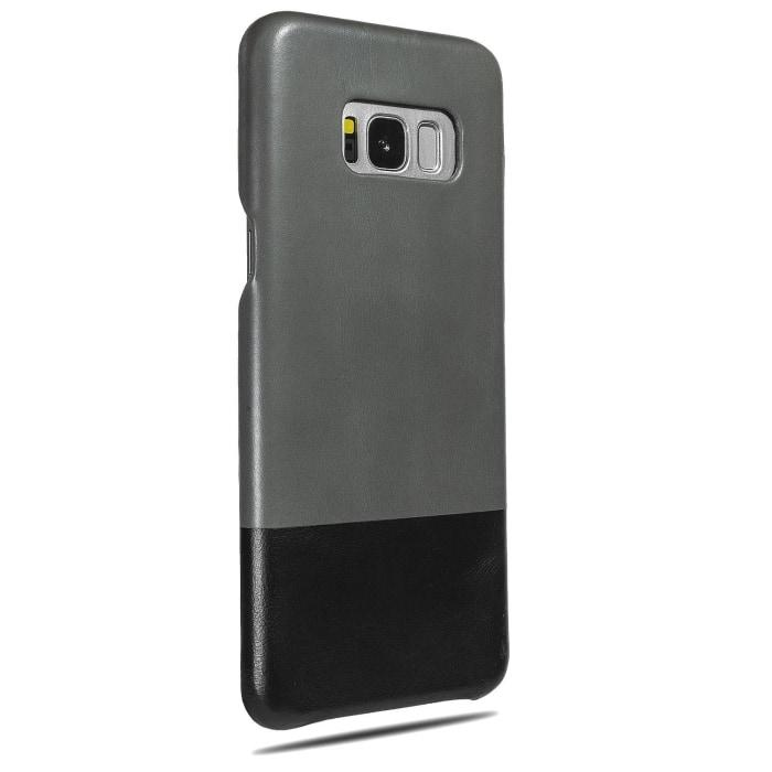 Fossil Gray & Crow Black Samsung Galaxy S8+ Plus Leather Case-Kulör Cases