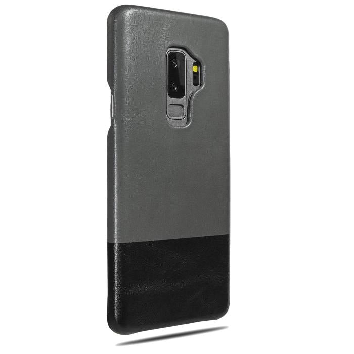 Fossil Gray & Crow Black Samsung Galaxy S9+ Plus Leather Case-Kulör Cases