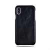 All Black iPhone Xs / iPhone X Lærveske-iPhone Xs Leather Snap-On Case-Kulör Cases