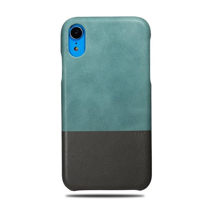 982e1d0e1 Personalized Ocean Blue & Gray iPhone XR Leather Case - Kulör Cases