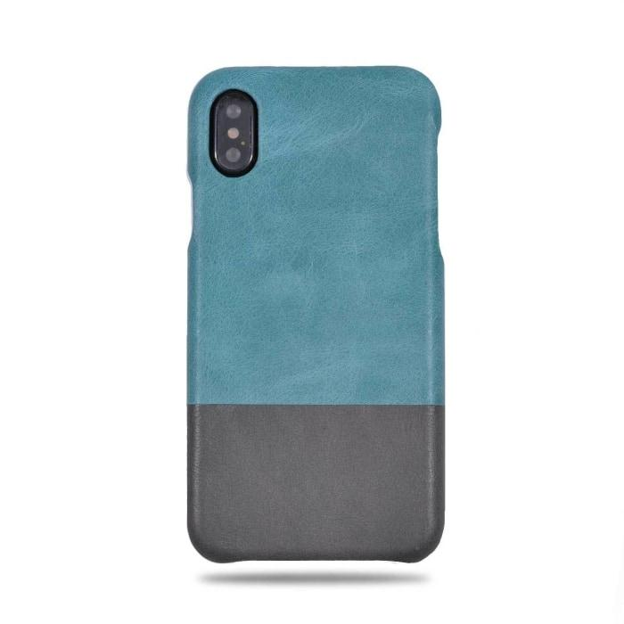 promo code b24fa a8806 Ocean Blue & Pebble Gray iPhone Xs / iPhone X Leather Case