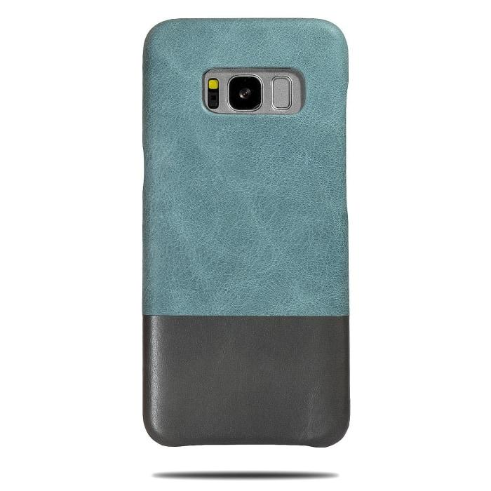 Buy personalized Ocean Blue & Pebble Gray Samsung Galaxy S8 Leather Case online-Kulör Cases