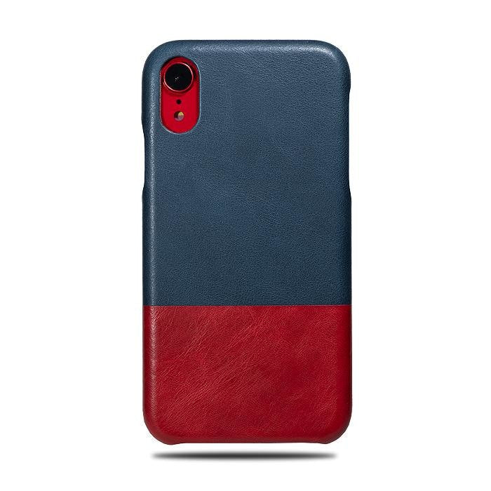 outlet store a140c 48cee Peacock Blue & Crimson Red iPhone XR Leather Case
