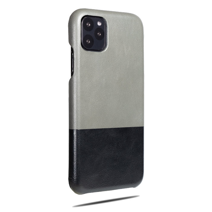 Fossil Gray & Crow Black iPhone 11 Pro Max Leather Case-iPhone 11 Pro Max Leather Snap-On Case-Personalized custom iPhone case-Kulör Cases