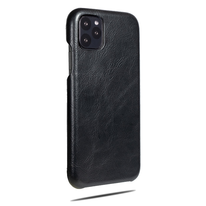 All Black iPhone 11 Pro Max Leather Case-iPhone 11 Pro Max Leather Snap-On Case-Personalized custom iPhone case-Kulör Cases
