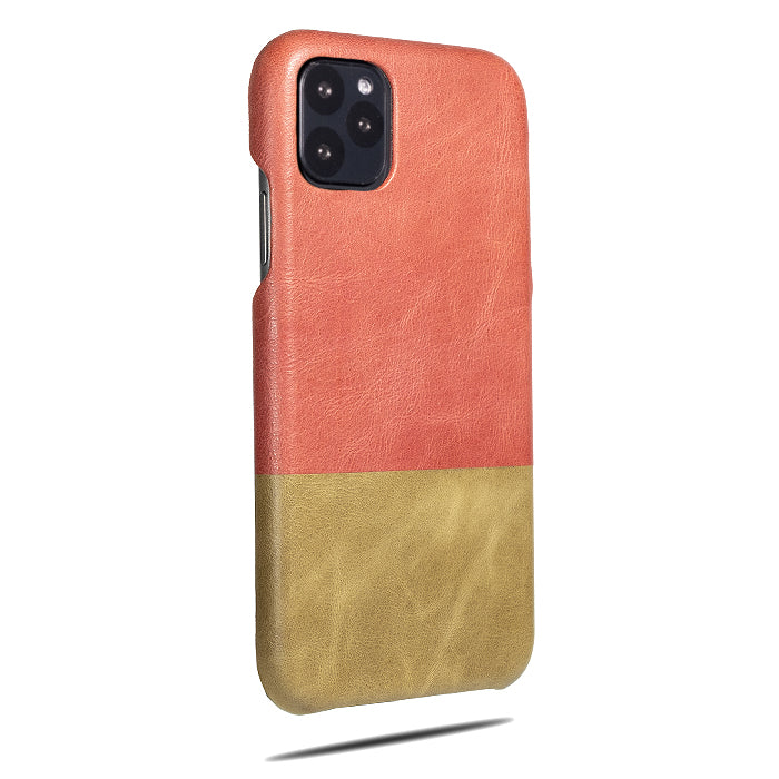 Rosewood Pink & Sage Green iPhone 11 Pro Max Leather Case-iPhone 11 Pro Max Leather Snap-On Case-Personalized custom iPhone case-Kulör Cases