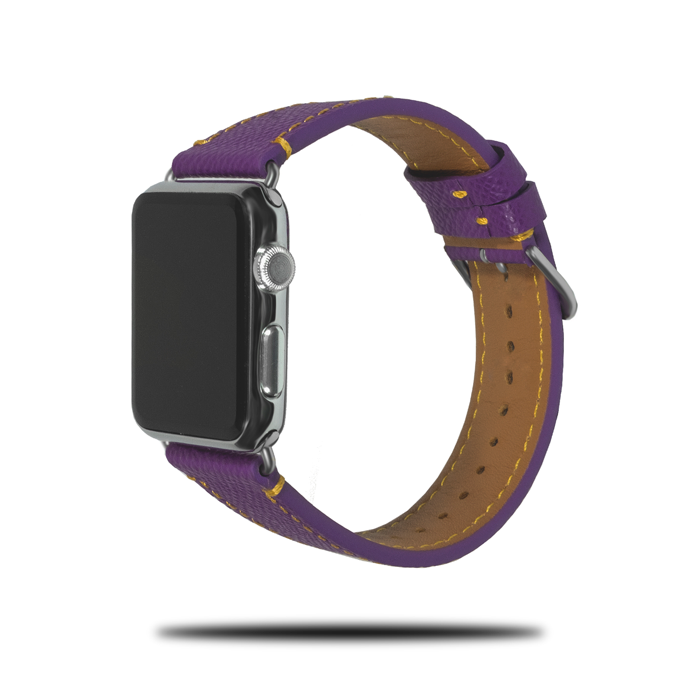 Violet Lilla Saffiano Lær Apple Watch Band & Stropp-Apple Watch Band-Kulör Cases