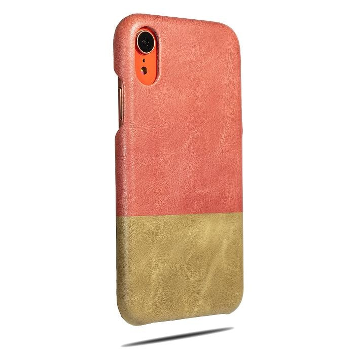 Rosewood Pink & Sage Green iPhone XR Leather Case-Kulör Cases