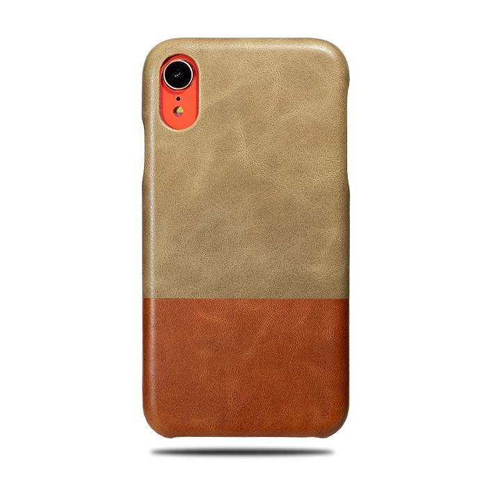 new styles 462ab 05ef4 Sage Green & Walnut Brown iPhone XR Leather Case