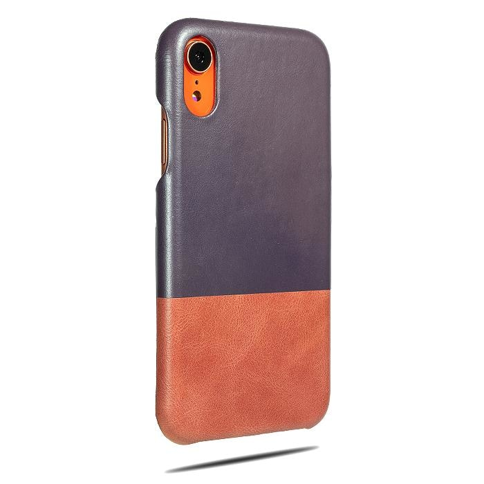 Wine Purple & Rosewood Pink iPhone XR Leather Case-Kulör Cases
