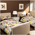 modern upholstered stone dorma twin bed