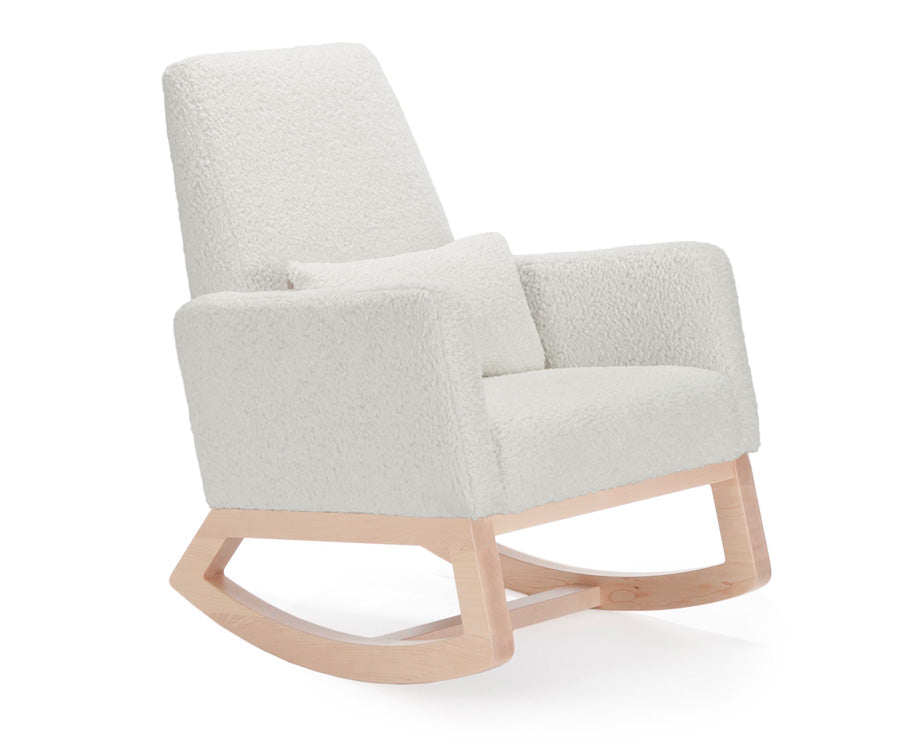 Modern Nursery Rocking Chair in Faux Sheepskin - Limited Edition Joya Nursery Rocking Chair