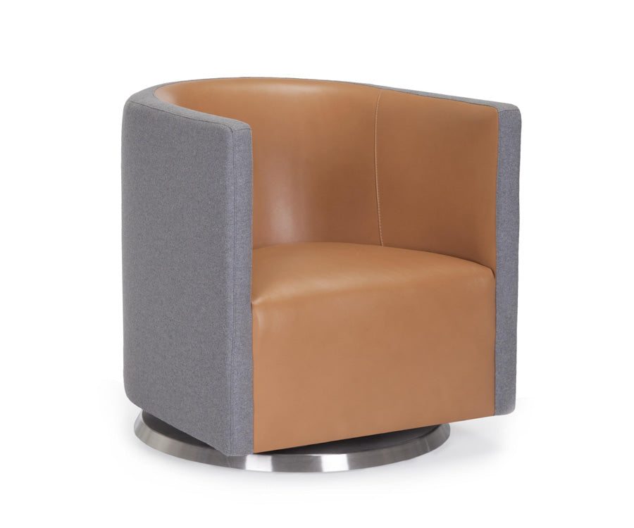 Mitchell Two Tone Modern Swivel Chair By Monte Design