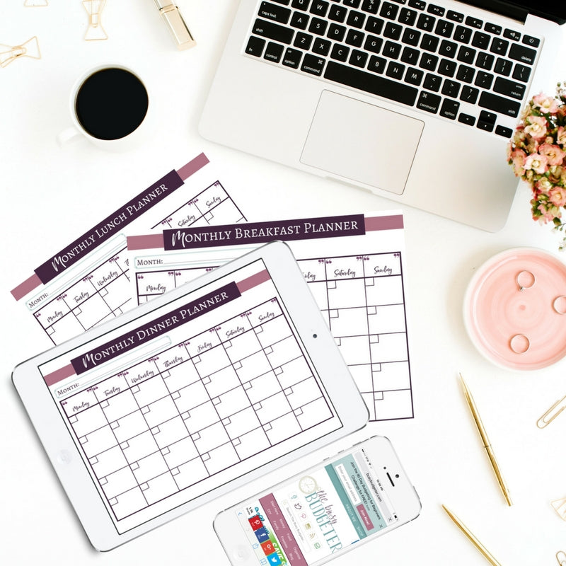 Monthly Meal Planning Printables Bundle