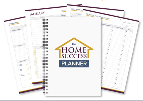 The Home Success Planner- (300 Pages/Cleaning/Meal Planning/Budgeting/Healthy Habits)