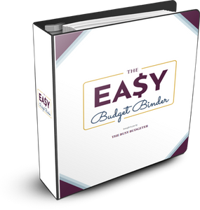 Easy Budget Binder- Includes Monthly, Weekly, Bill Pay, Debt tracking, Instructions and More!
