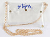 Clear Purse with Gold Chain