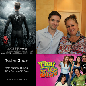 "Celebrity Topher Grace of ""That 70's Show"" and ""Spider Man."""