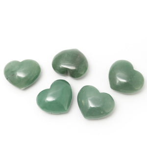 One Aventurine Puffy Heart Stone