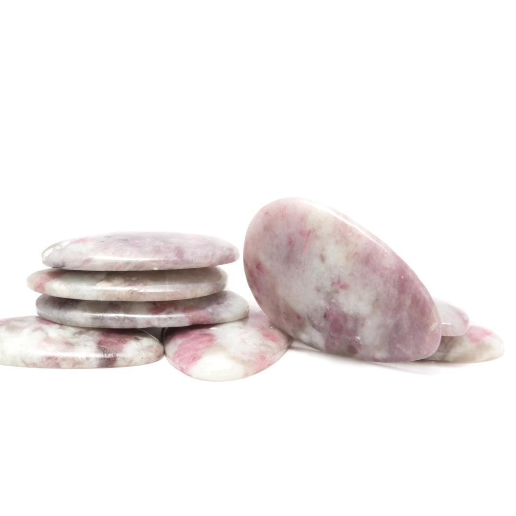 One Pink Tourmaline Comfort Palm Stone