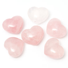 One Rose Quartz Puffy Heart Stone