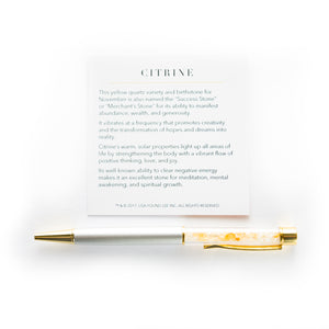Citrine Supercharged Reiki Pen