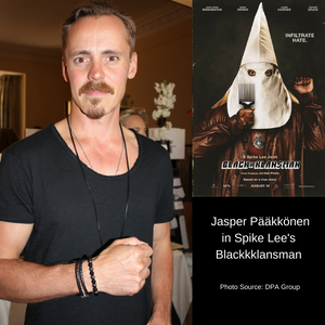 "Finnish actor Jasper Pääkkönen of ""Vikings"" and Spike Lee's movie, ""Blackkklansman"""