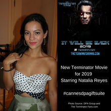 Colombia actress Natalia Reyes will be starring in the new Terminator 2019 movie