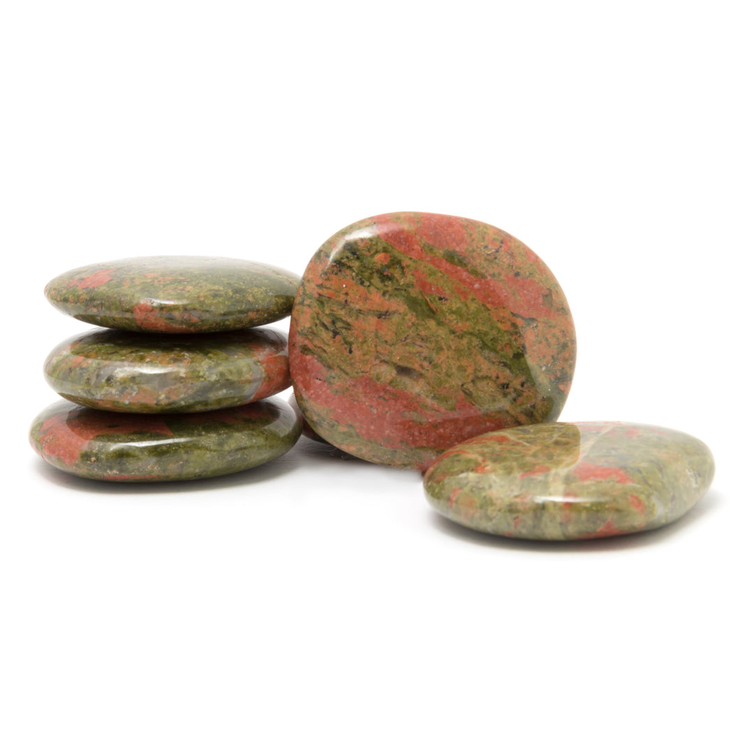 One Unakite Comfort Palm Stone