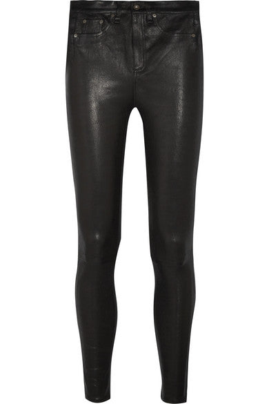 High Rise Leather Pants