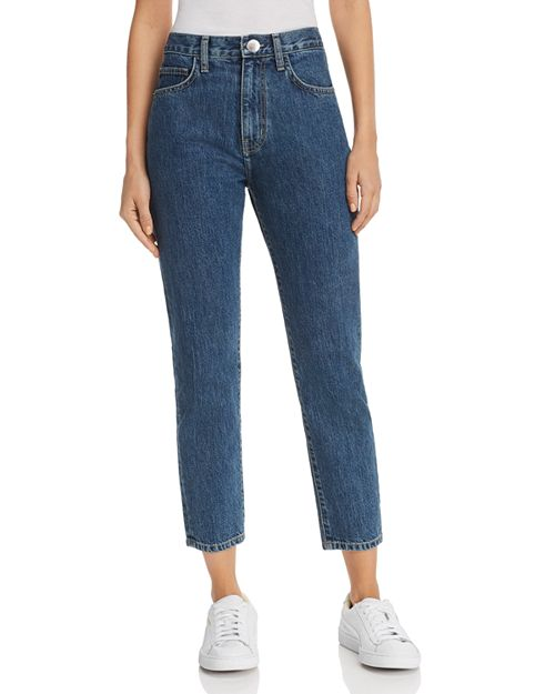 Vintage Cropped Straight-Leg Jeans