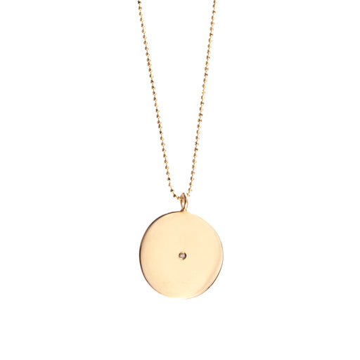 Large Gold Circle Pendant